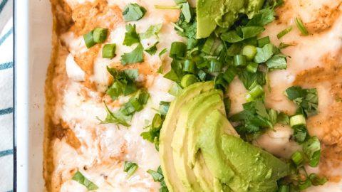 Chicken Enchiladas with Pumpkin Sauce   #PumpkinWeek