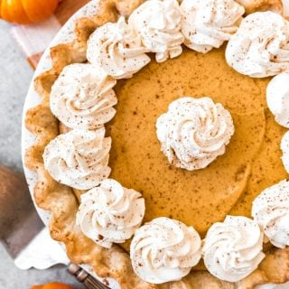 Up your pumpkin pie game this Thanksgiving holiday with a Pumpkin Chiffon Pie.  It is a lighter, airier version of the traditional pumpkin pie.