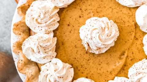 Pumpkin Chiffon Pie | #PumpkinWeek
