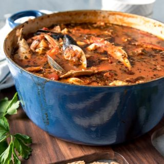 Considered the signature dish of San Francisco, Cioppino is a wonderful seafood stew that is perfect for entertaining and holidays.  Serve this with crusty sourdough bread to sop up all the delicious broth for a truly Californian dining experience!