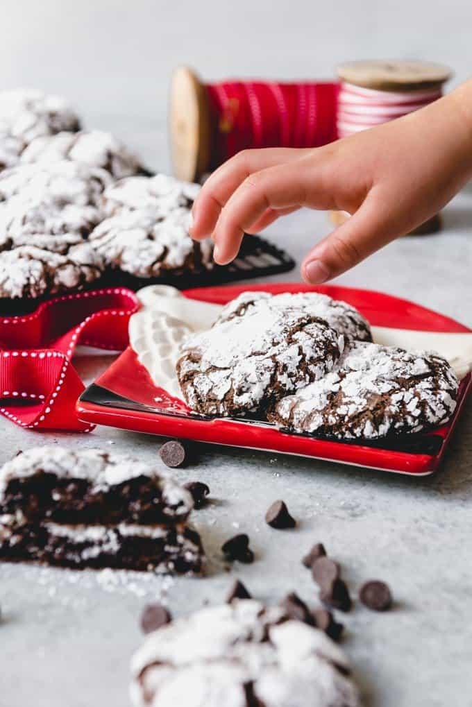 Double Chocolate Crinkle Cookies House Of Nash Eats