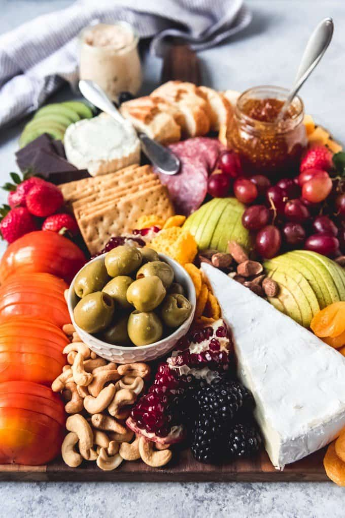 A fruit and cheese board has something to please everybody!