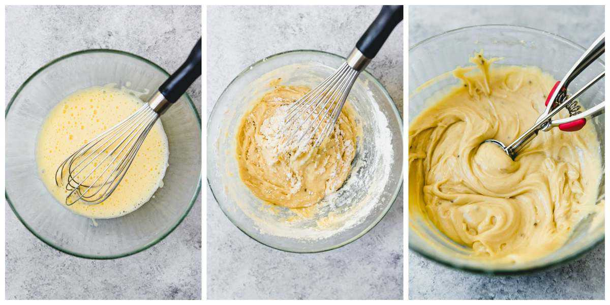 An image of a step-by-step process for how to make Italian pizzelles with anise extract and anise seed.