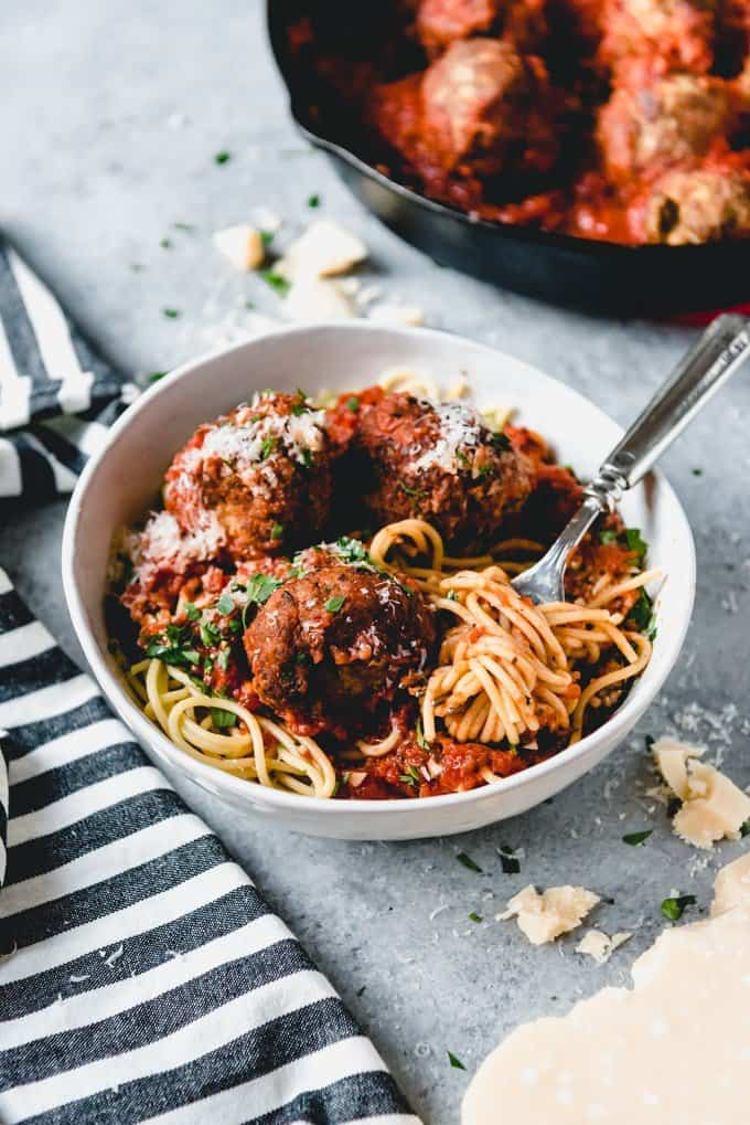 An Italian-American favorite, these authentic Italian meatballs and spaghetti are classic comfort food.