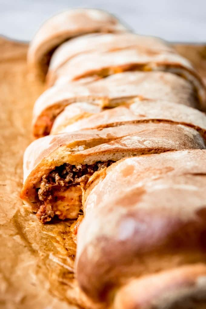 An image of a homemade stromboli.