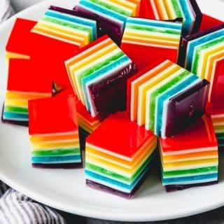 Layered Rainbow Jello