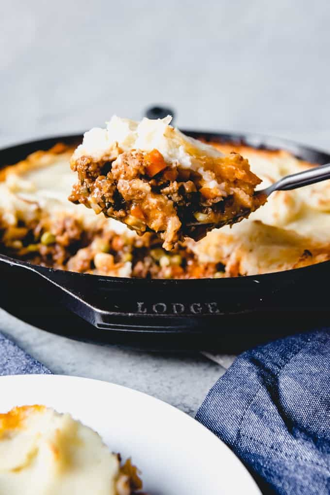 A big helping of Irish Shepherd's Pie is the perfect thing to enjoy on St. Patrick's Day or any cold weather day of the year.