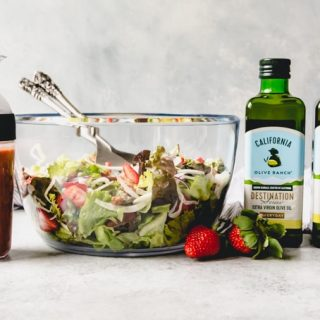 This stunning Spring Salad with Strawberry Balsamic Vinaigrette is sure to delight your taste buds all spring and summer long. A mix of colors, textures, and flavors with a unique strawberry balsamic vinaigrette will help you stick to your healthy living goals using the freshest ingredients.It's a light, delicious, and thirst-quenching salad that's perfect for spring!