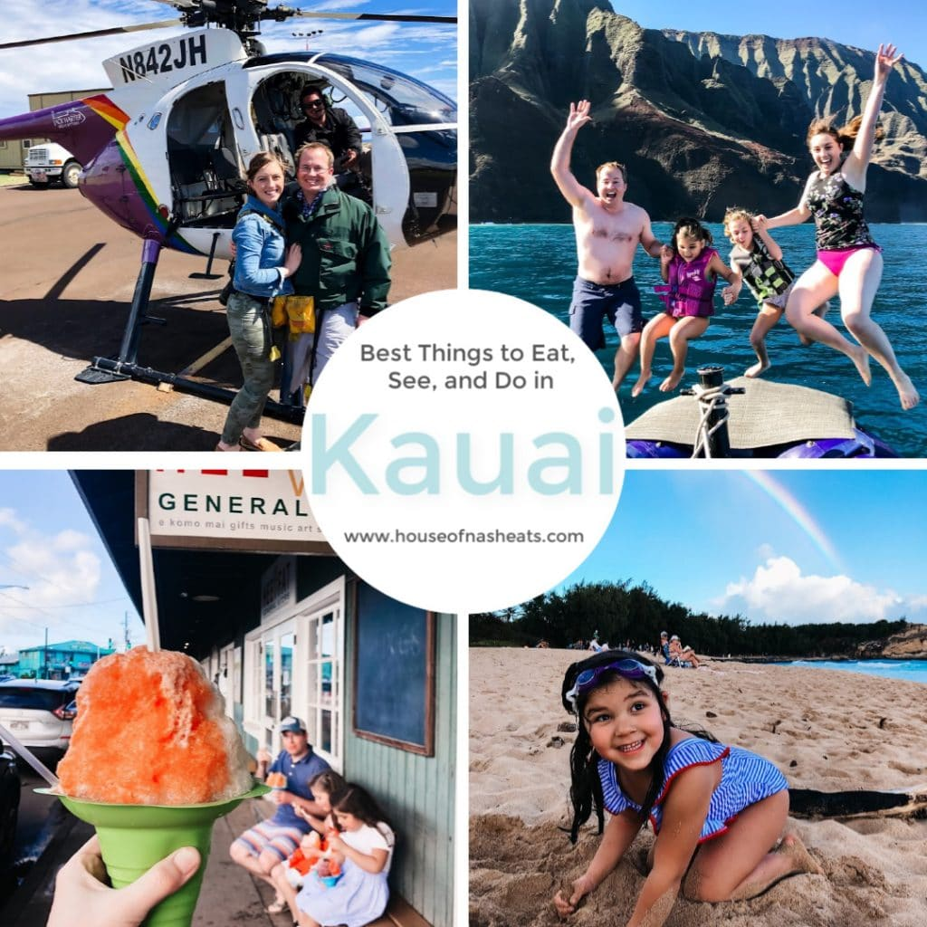 Planning a trip to the Garden Island of Kauai, Hawaii?  These are the best things to eat, see, and do in Kauai, from shave ice to sea turtles, whales to waterfalls, and hiking to hula!