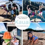 Planning a trip to the Garden Island of Kauai, Hawaii? These are the best things to eat, see, and do in Kauai, from shave ice to sea turtles, whales to waterfalls, and hiking to hula! #Hawaii #travel #Kauai #vacation #trip #tropical #eat #do #see #family #children #tours #adventure #food #wildlife