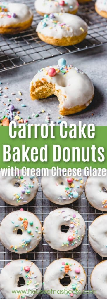 carrot cake baked donuts with cream cheese glaze