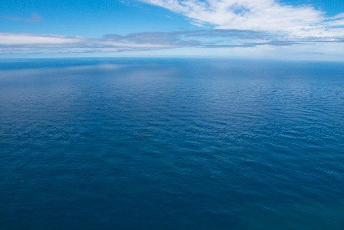 a calm blue ocean
