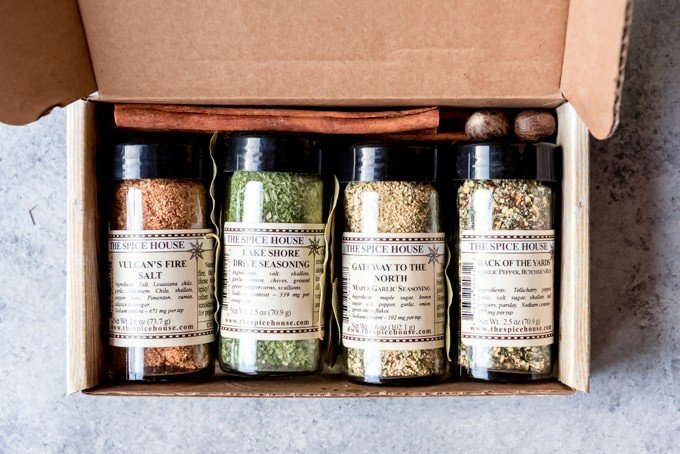 An image of a box of The Spice House's masterpiece spice blends.