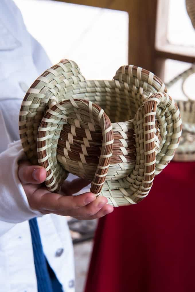 An image of a Gullah sweetgrass basket.