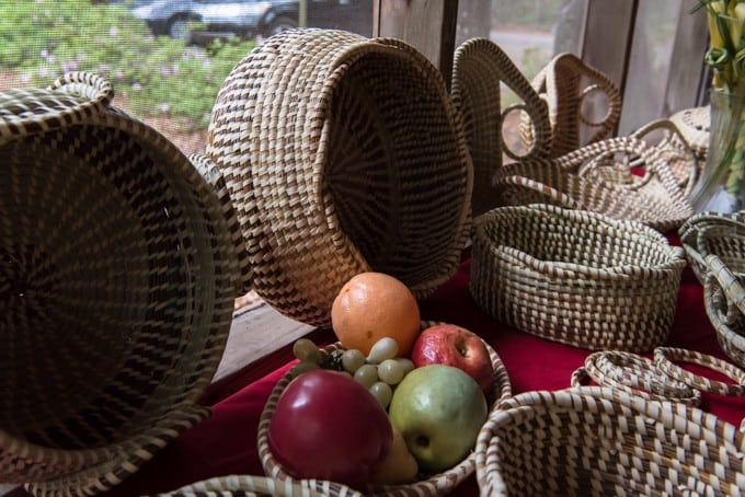 An image of sweetgrass baskets.