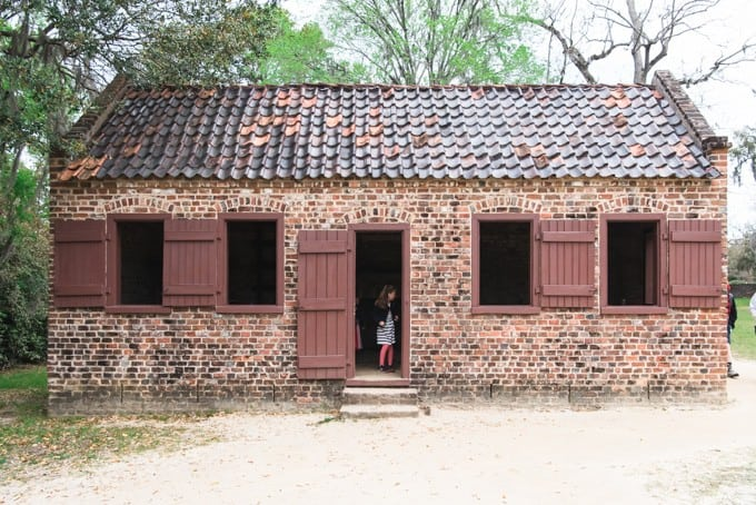 An image of slave lodging at Boone Hall Plantation.