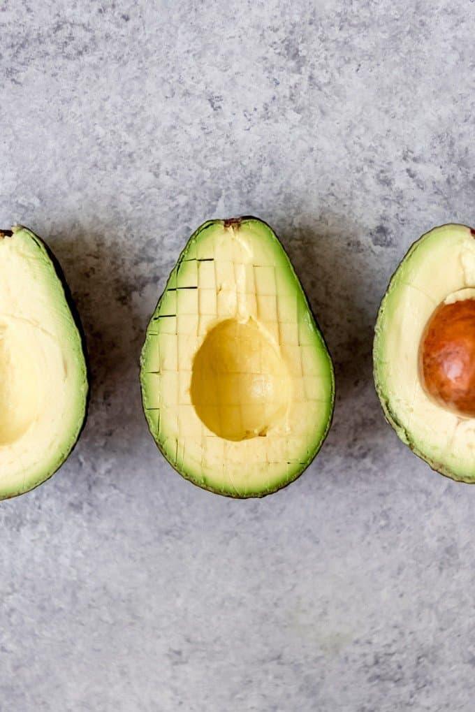 An image of a sliced avocado.
