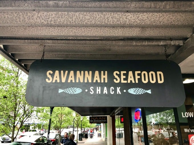 An image of the Savannah Seafood Shack sign.