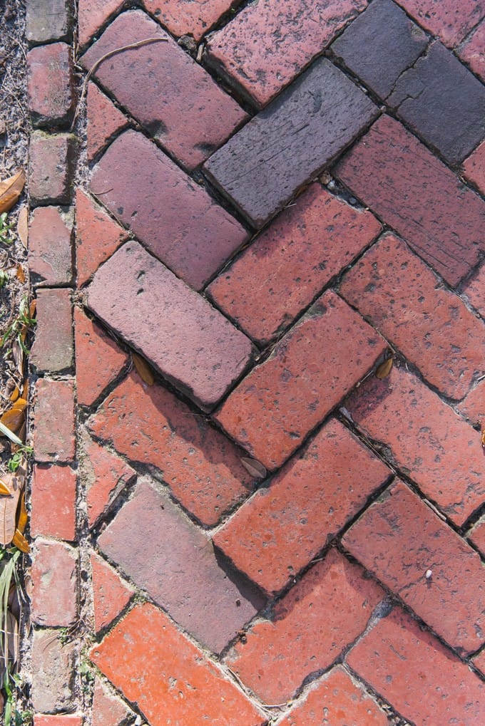 An image of a brick sidewalk.