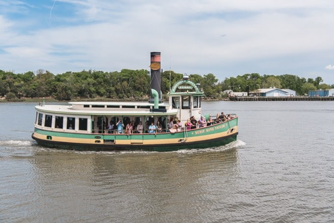 An image of the river ferry on the Savannah River.
