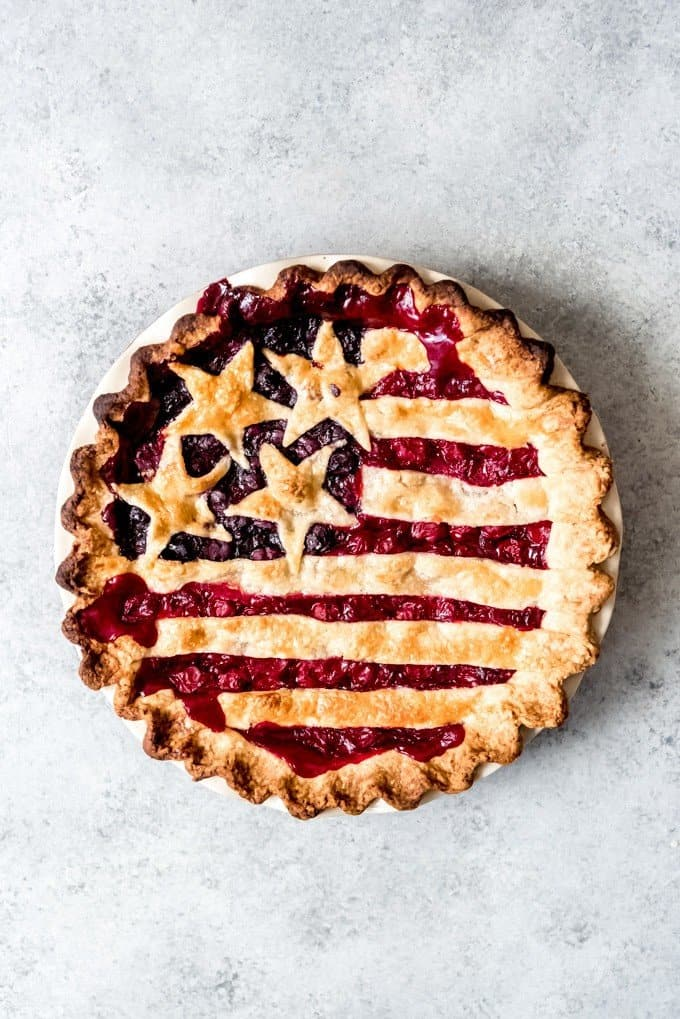 An image of an American Flag Pie.