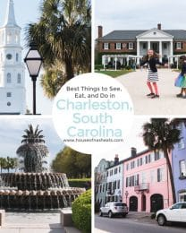 A collage of images from Charleston, South Carolina.