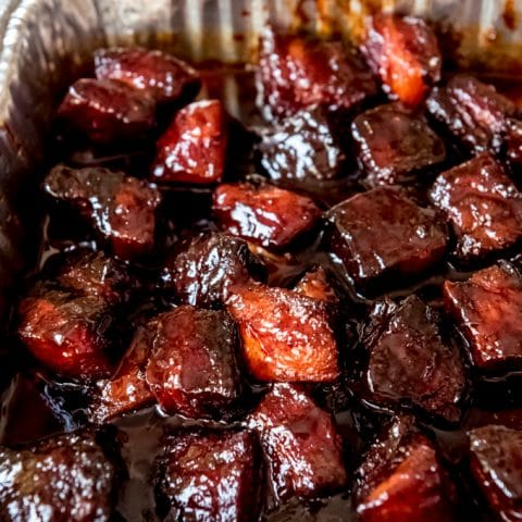 Smoked Pork Belly Burnt Ends With Video House Of Nash Eats