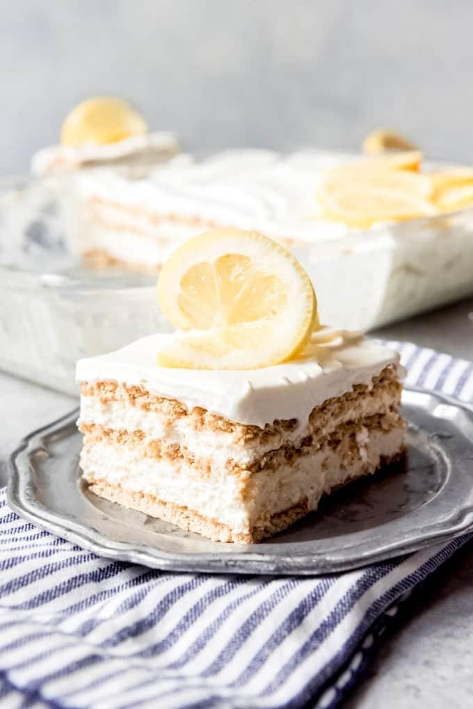 Easy Lemon Icebox Cake House Of Nash Eats