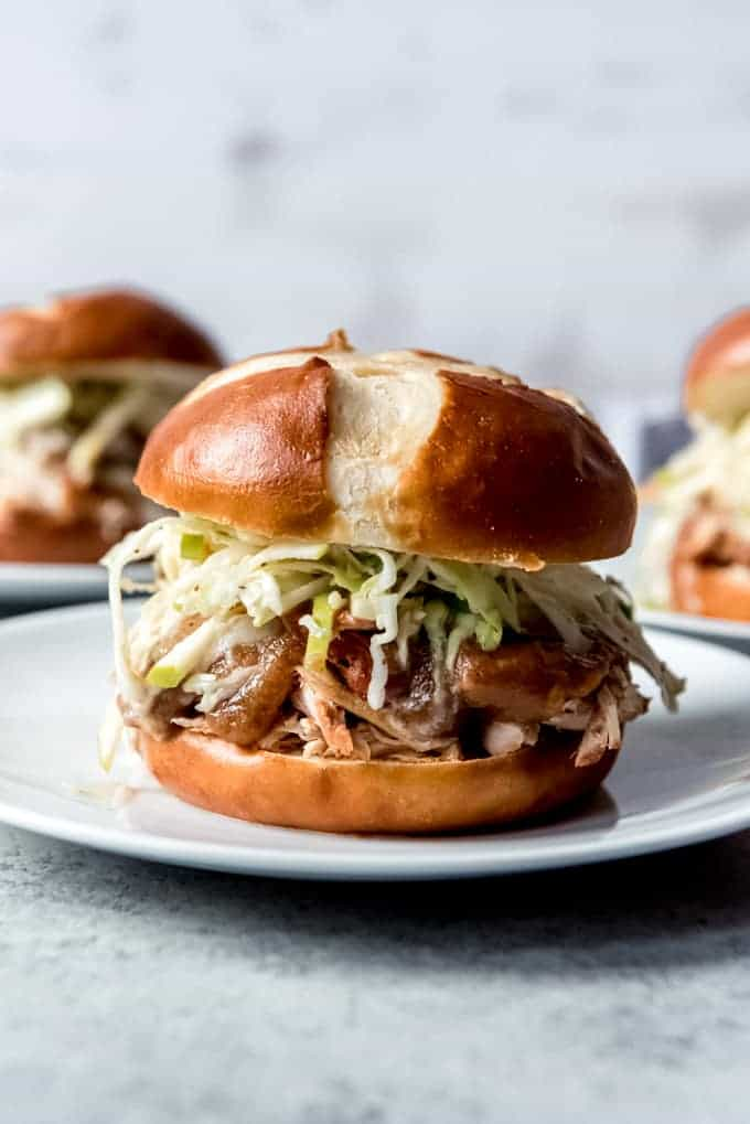 Applesauce Pulled Chicken Sandwiches House Of Nash Eats