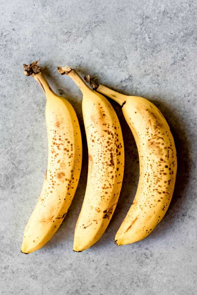 An image of 3 overripe bananas.