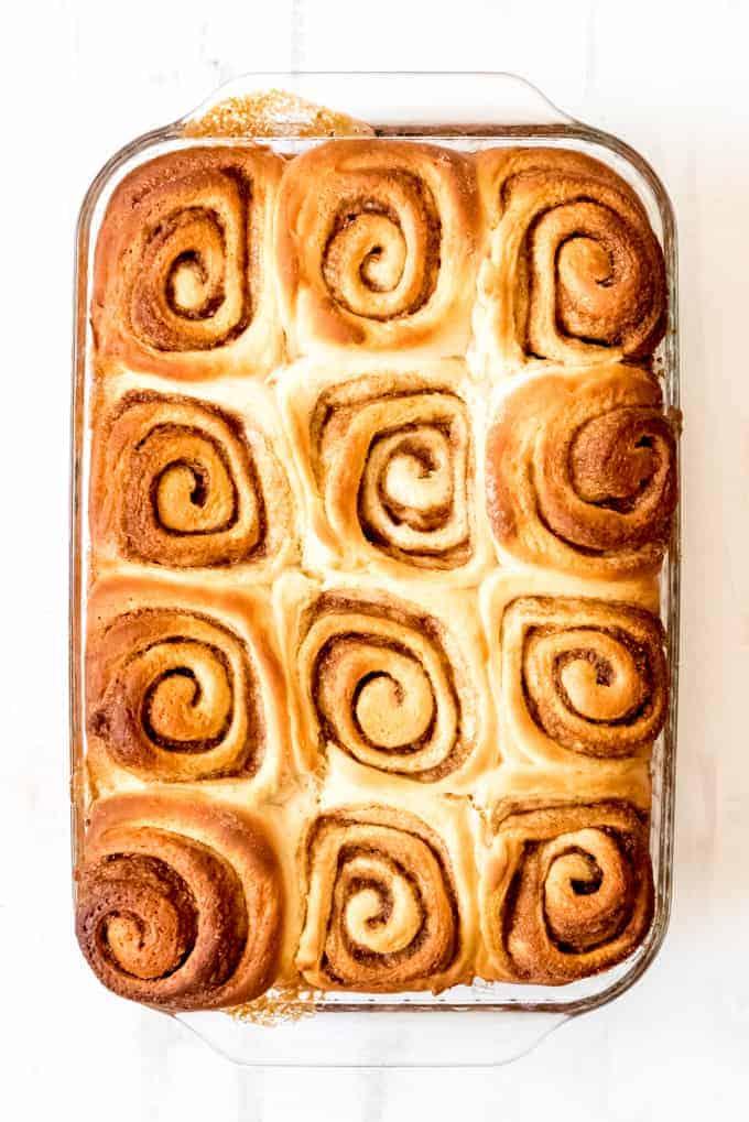 An image of swirled cinnamon buns.