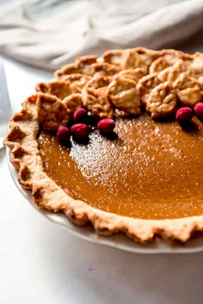 An image of a traditional pumpkin pie.
