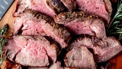 Garlic Herb Butter Beef Tenderloin Roast