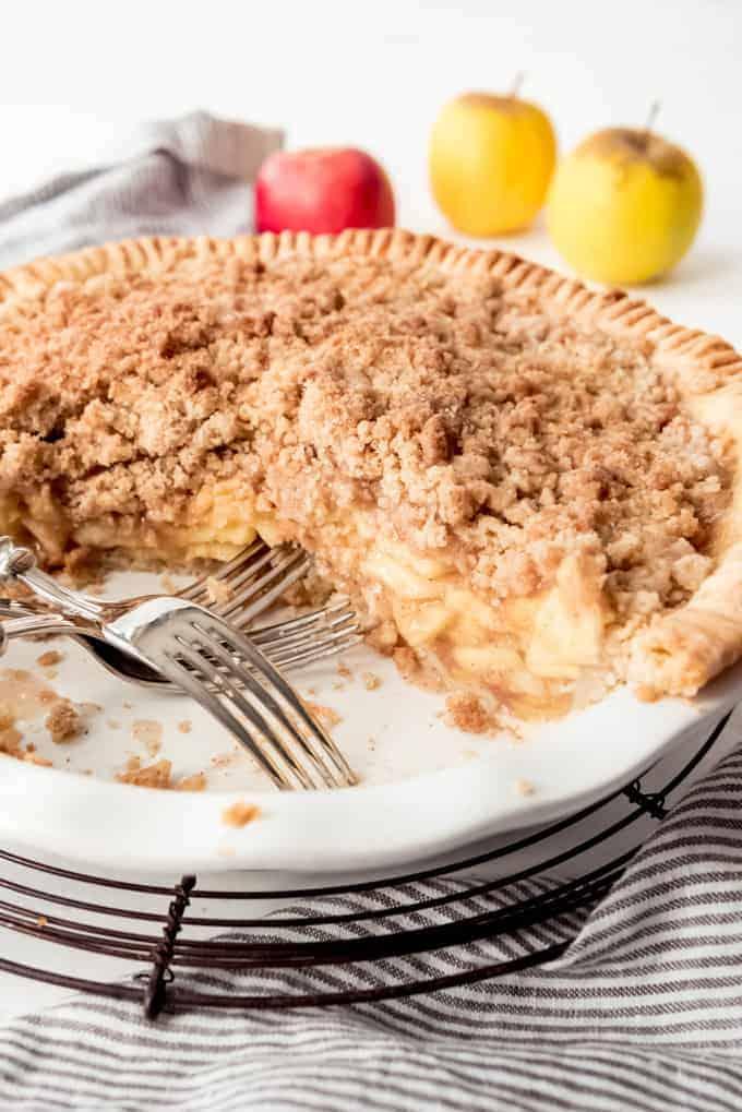 An image of a Dutch Apple Pie (aka Apple Crumble Pie)