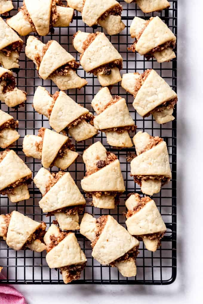 Another image of homemade rugelach cookies.