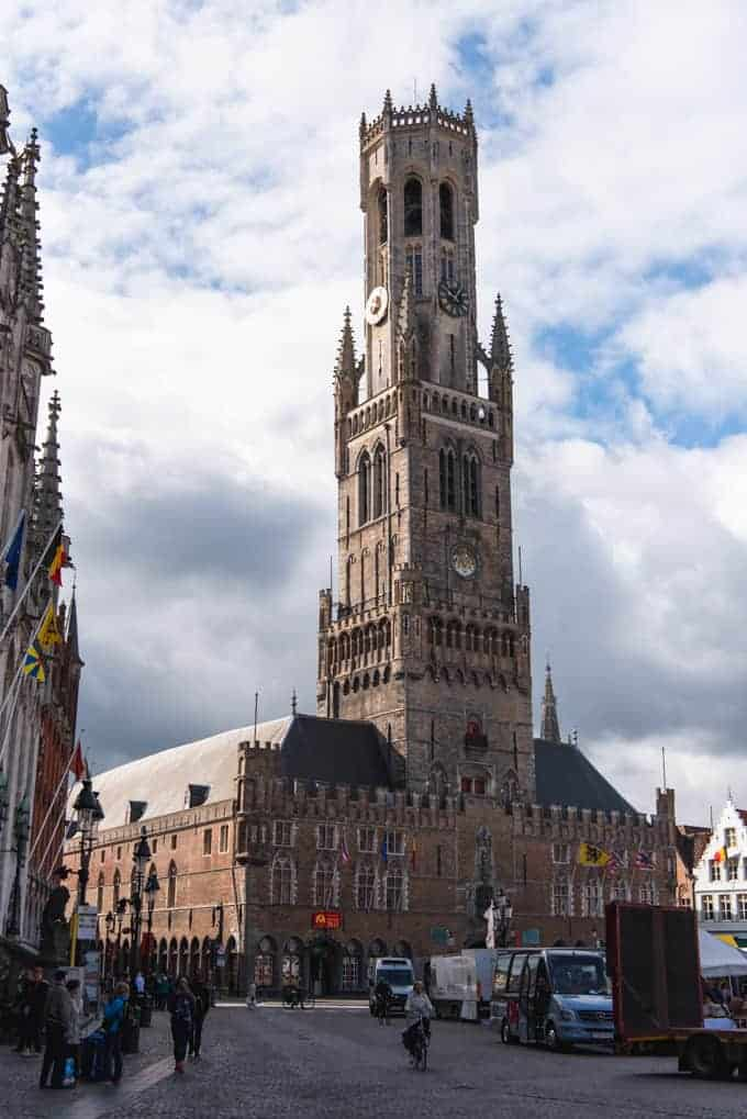 An image of the belfry tower in Bruges, Belgium.