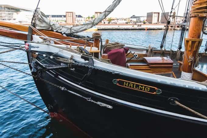 A sailing ship in Copenhagen.