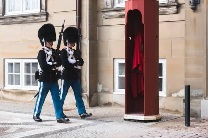 Danish guards in Copenhagen.