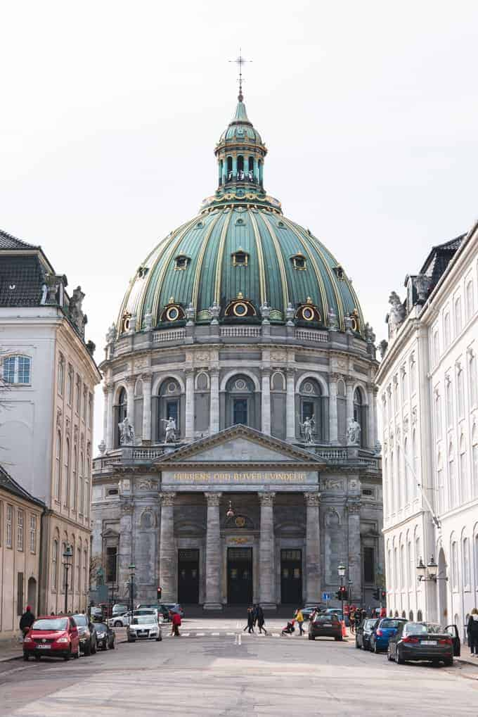 Amalienborg Palace in Copenhagen.