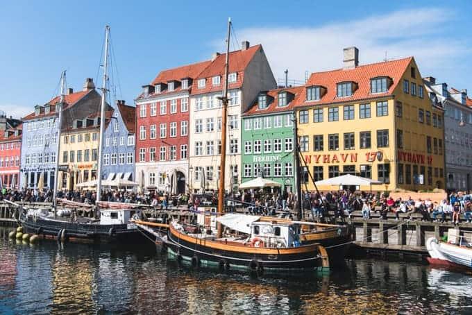 Nyhavn waterfront in Copenhagen.