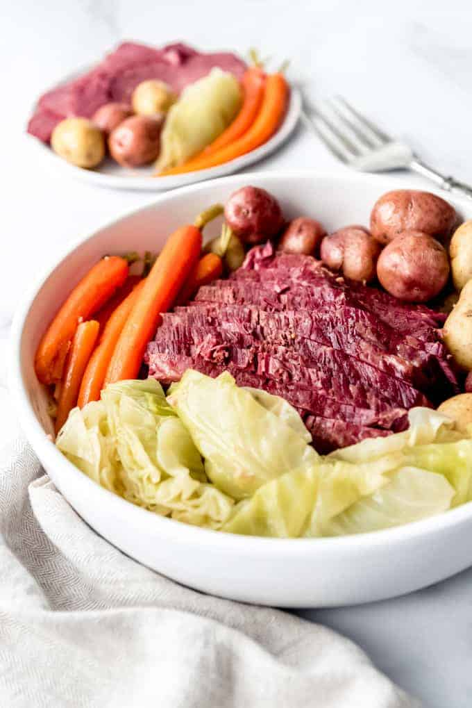 An image of St. Patrick's Day corned beef and cabbage.
