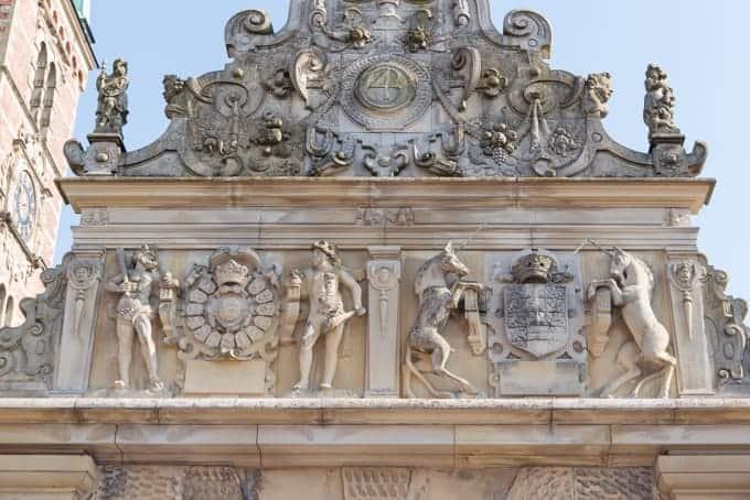 The exterior facade of a castle in Denmark.