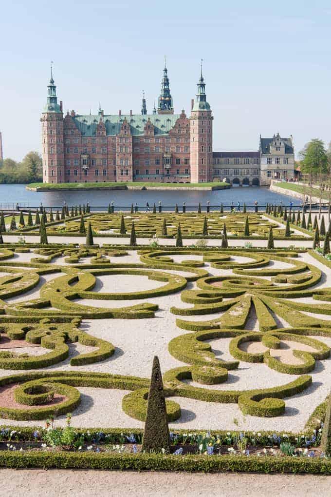 The gardens at Frederiksborg Castle in Denmark.
