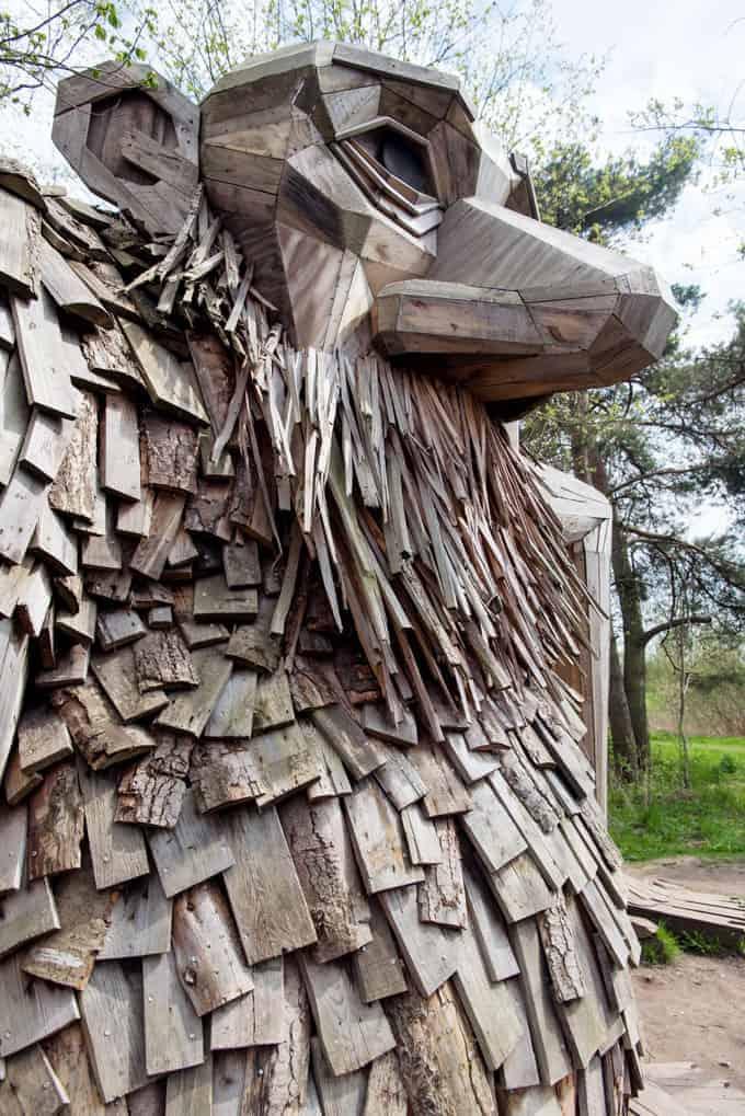 One of Thomas Dambo's Forgotten Giant sculptures in Denmark.