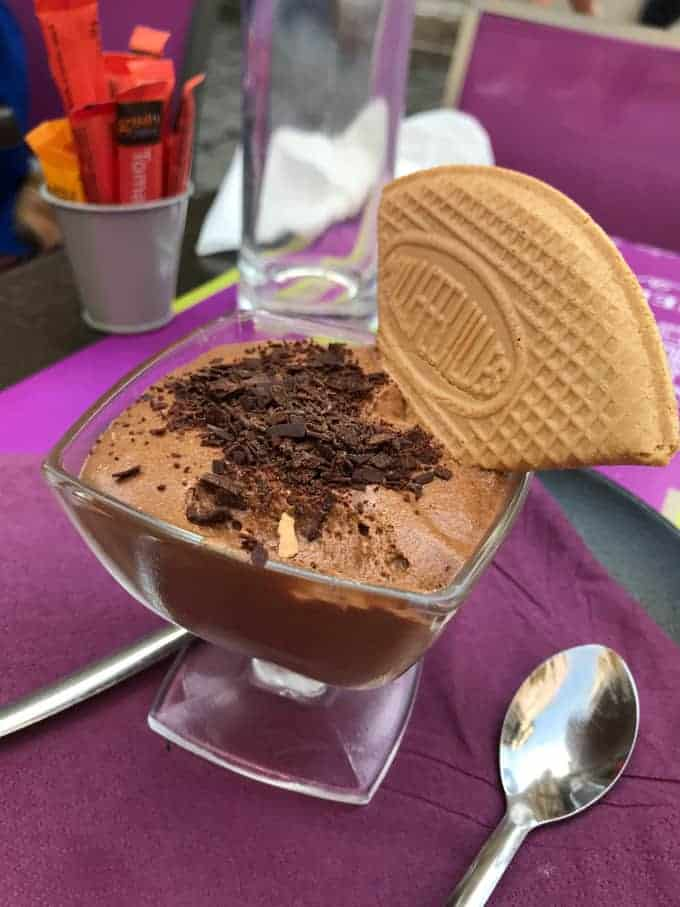 An image of French chocolate mousse.