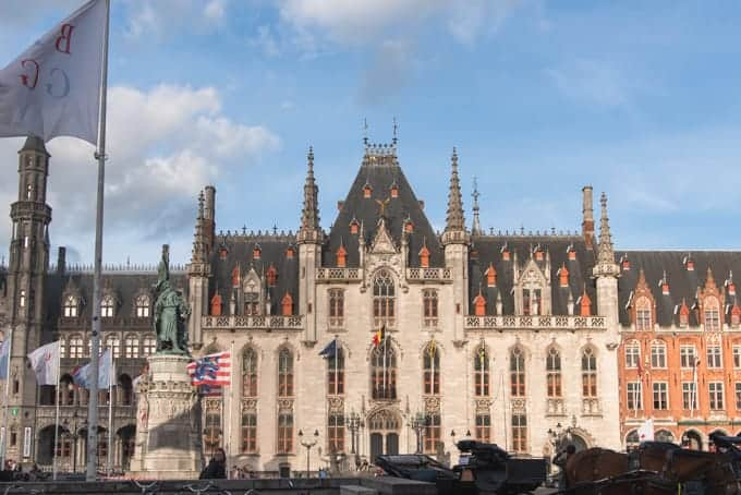 An image of the provincial palace in Bruges, Belgium.