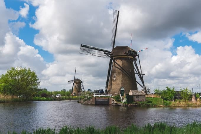 An image of a windmill at Kinderdijk.