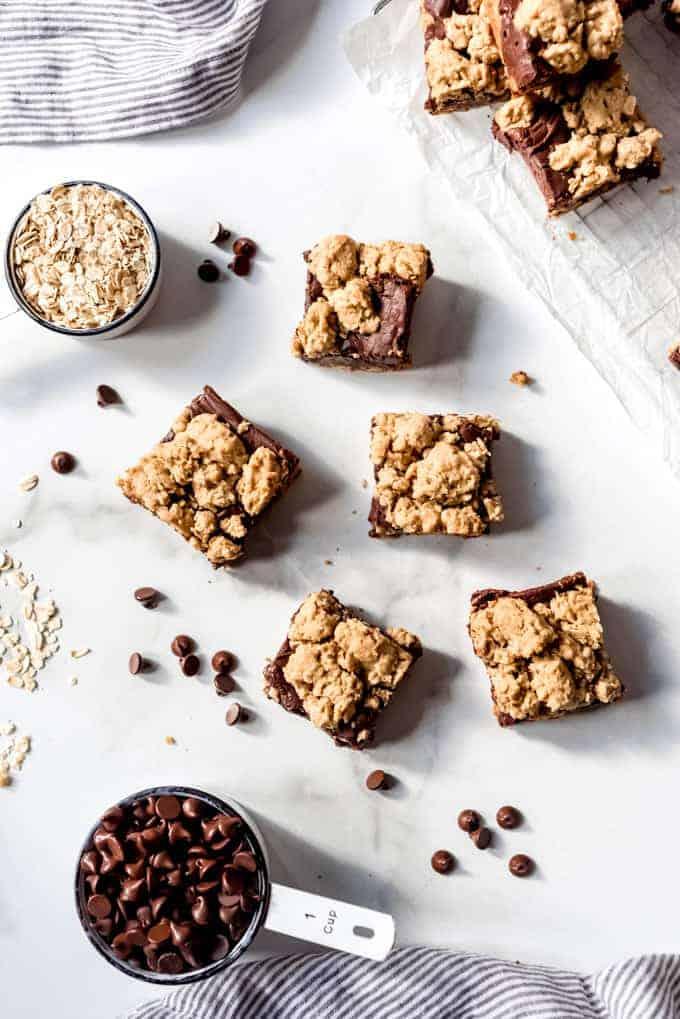 An image of copycat Starbucks oatmeal fudge bars.