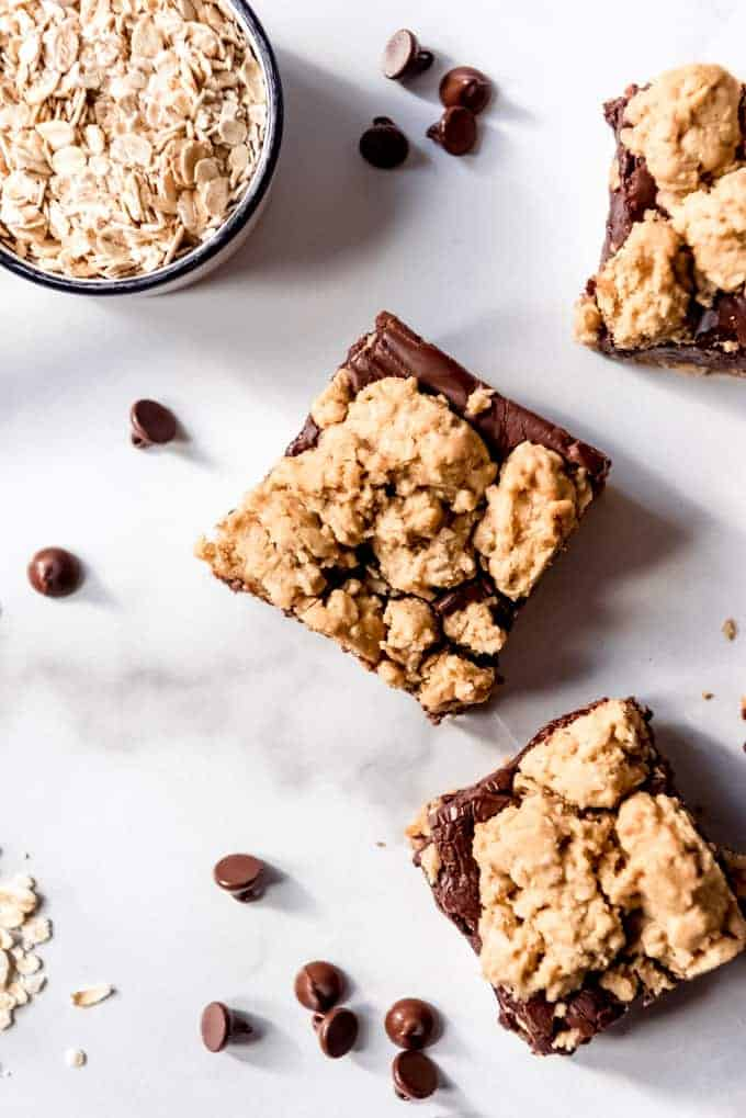 An image of oatmeal chocolate cookie bars.