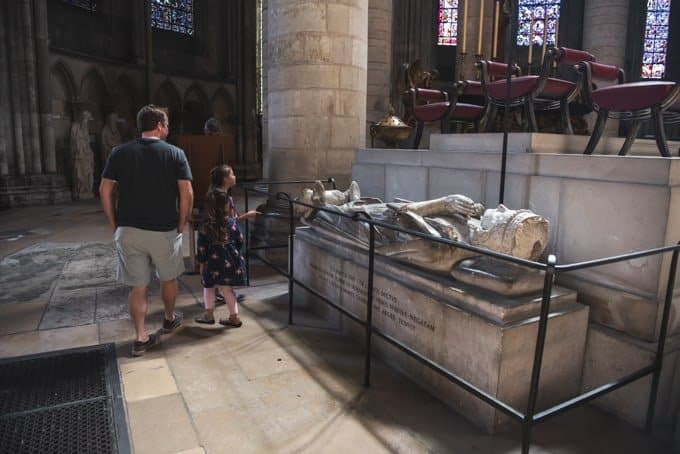 An image of the tomb of Richard the Lionheart in Rouen, France.
